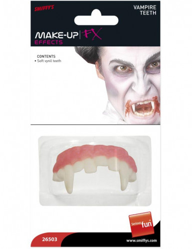 Dentadura postiza de vampiro para adulto ideal para Halloween