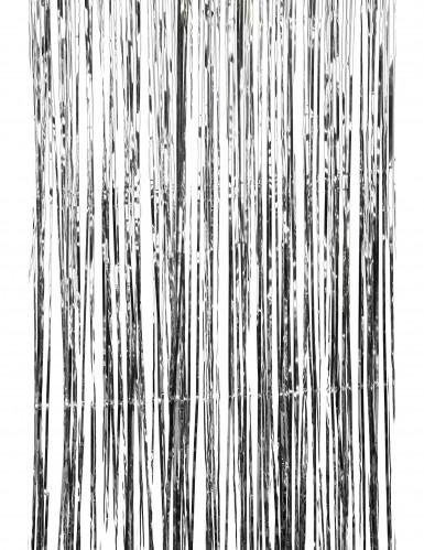 Cortina plateada con brillos-1