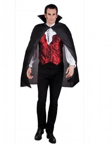 Capa negra de vampiro para hombre, ideal para Halloween