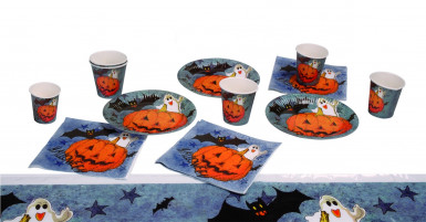 Kit de mesa con calabazas ideal para Halloween