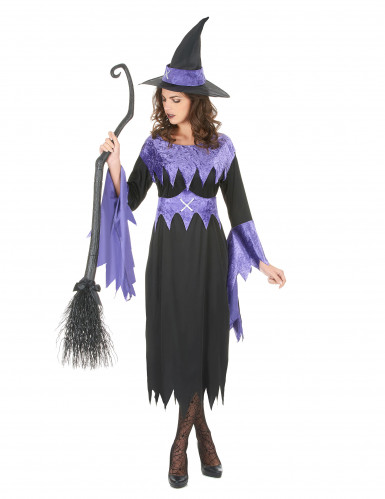 Disfraz de bruja para mujer manga zigzag