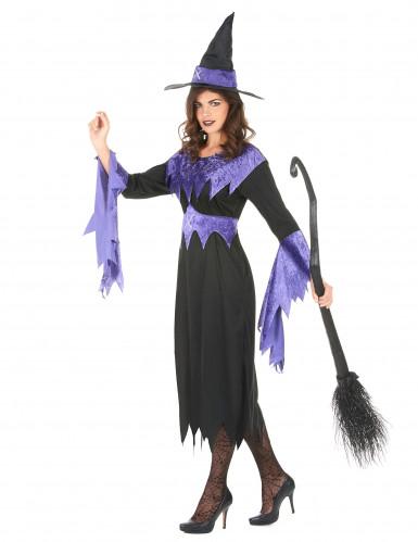 Disfraz de bruja para mujer manga zigzag-1