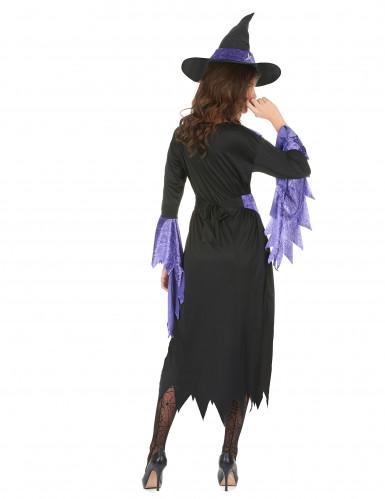 Disfraz de bruja para mujer manga zigzag-2