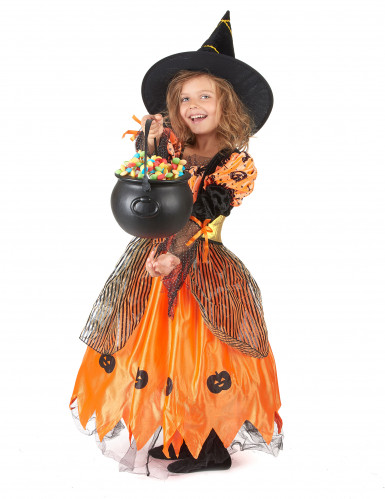 Disfraz de bruja para niña ideal para Halloween-1