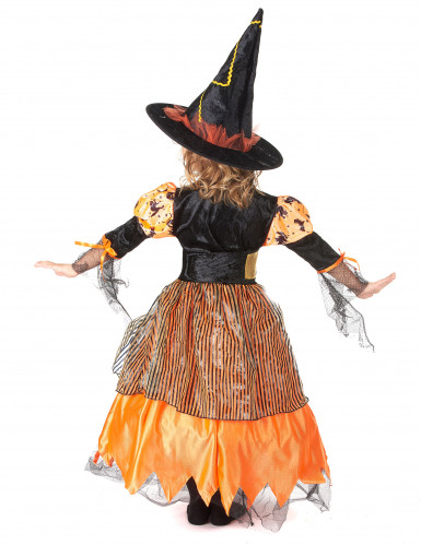 Disfraz de bruja para niña ideal para Halloween-2