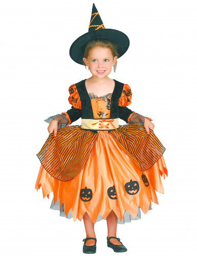 Disfraz de bruja para niña ideal para Halloween-3