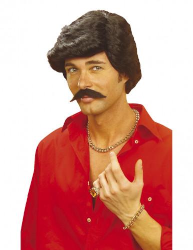 Peluca y bigote de Casanova hombre