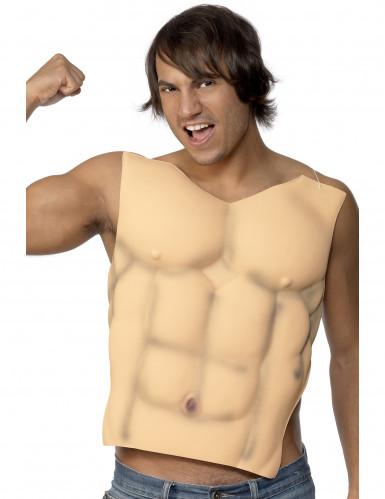 Torso musculoso postizo para adulto