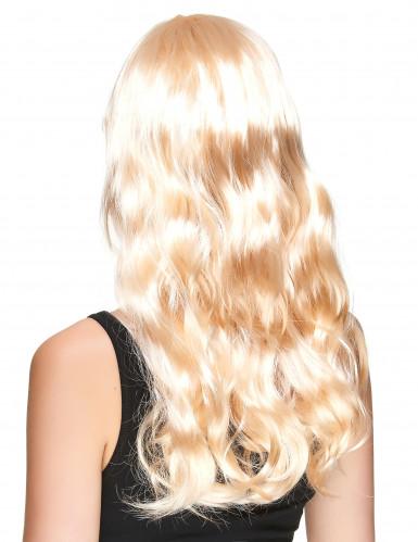 Peluca larga rubia mujer reflejos dorados-1