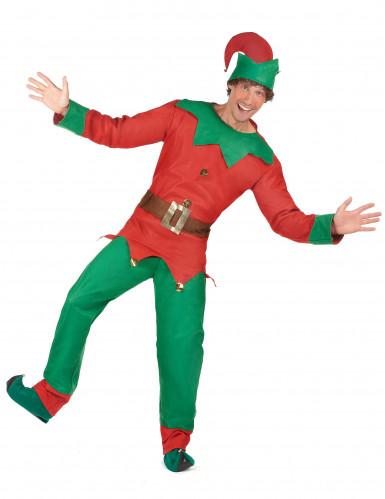Disfraz de duende de Navidad para hombre-1