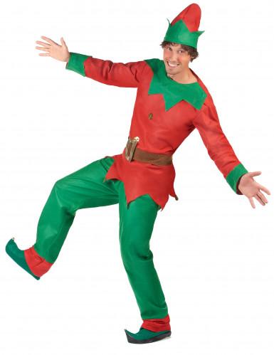 Disfraz de duende de Navidad para hombre-2