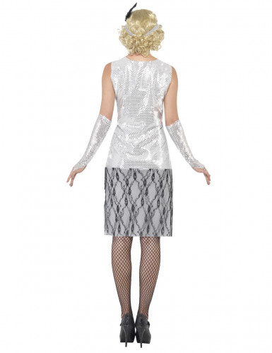 Disfraz plateado de charlestón para mujer-2