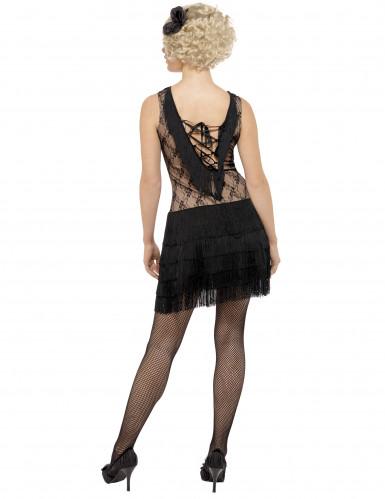 Disfraz negro de charlestón para mujer-2