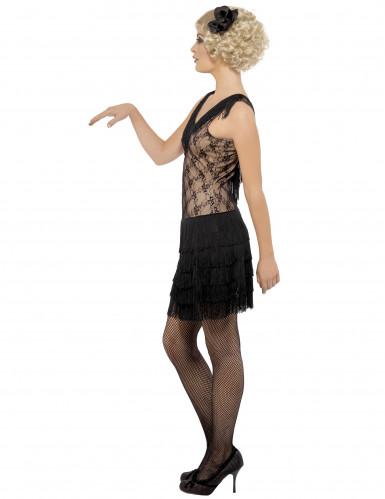 Disfraz negro de charlestón para mujer-1