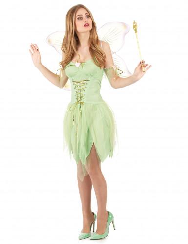 Disfraz de hada verde corset para mujer