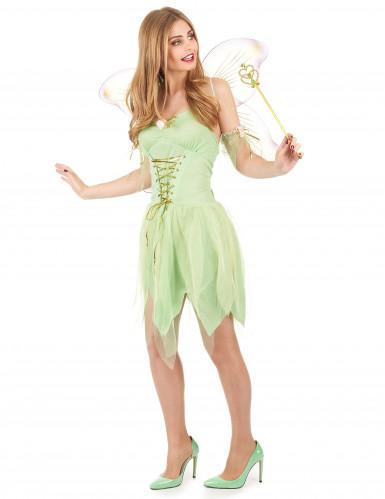 Disfraz de hada verde corset para mujer-1