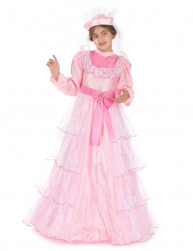 Disfraz de princesa para niña largo rosa