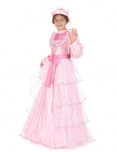 Disfraz de princesa para niña largo rosa-1