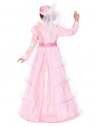 Disfraz de princesa para niña largo rosa-2