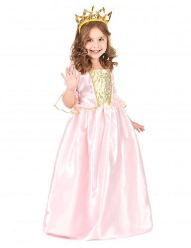 Disfraz rosa y dorado princesa para niña