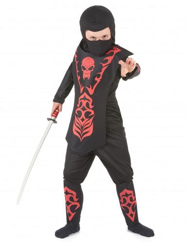 Disfraz rojo ninja para niño
