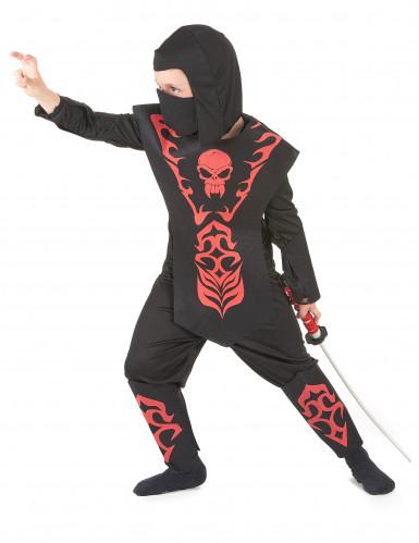 Disfraz rojo ninja para niño-1