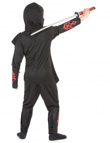 Disfraz rojo ninja para niño-2