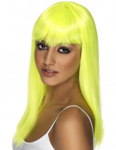 Peluca amarilla con glamour para mujer