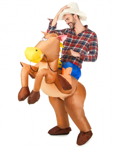 Disfraz de caballo inflable para adulto