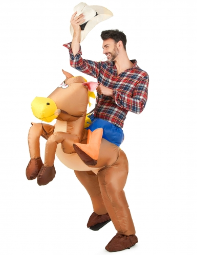 Disfraz de caballo inflable para adulto-1