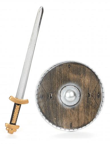 Set de vikingo de madera para niño