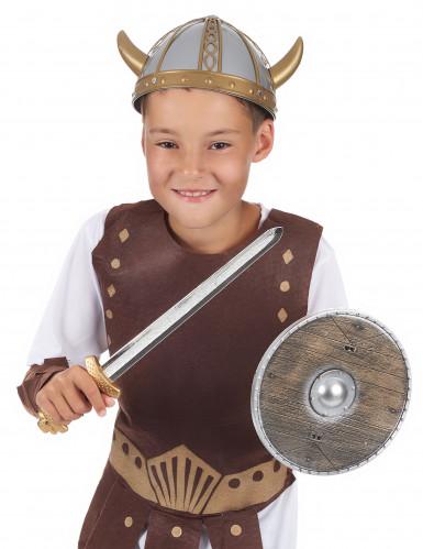 Set de vikingo de madera para niño-1