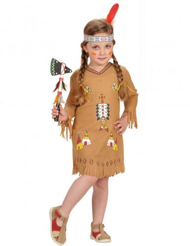 Disfraz de india con dibujos niña