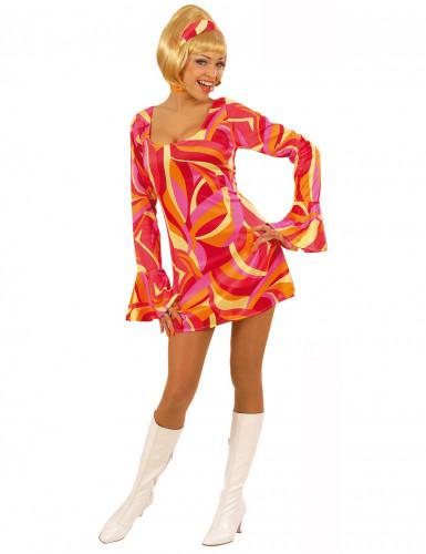 Disfraz rojo estilo disco para mujer