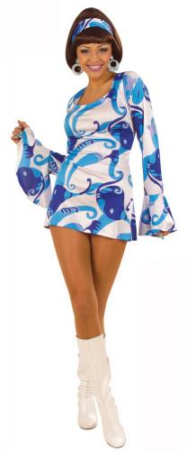 Disfraz azul estilo disco para mujer