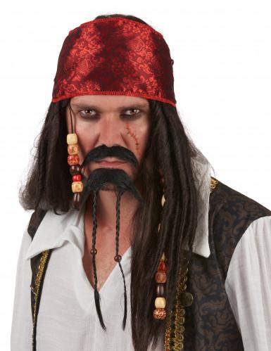 Bigote y perilla de pirata para hombre