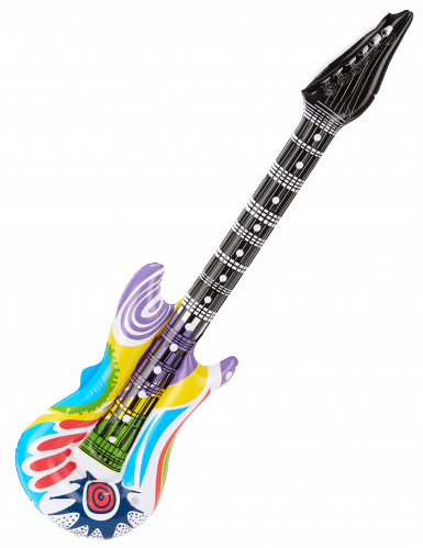 Guitarra de rock abigarrada inflable