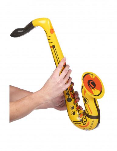 Saxofón inflable amarillo-1