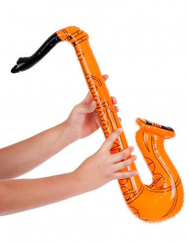 Saxofón inflable naranja-1