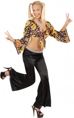 Pantalón de campana estilo disco para mujer