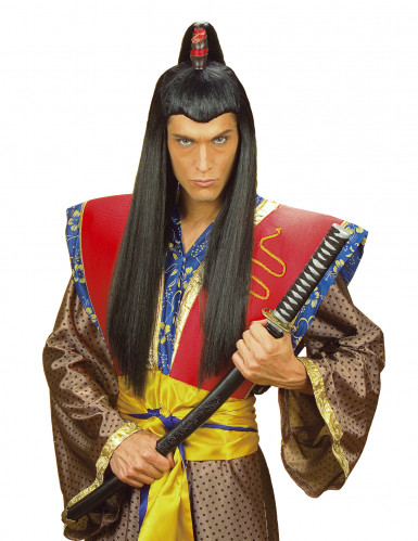 Peluca de samurái para hombre