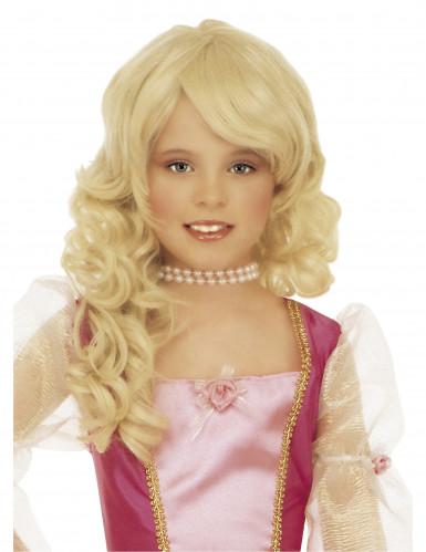 Peluca rubia de princesa para niña