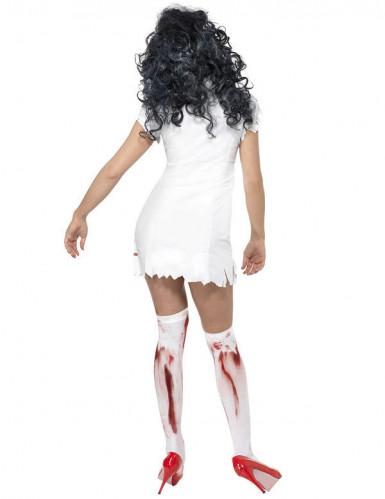 Disfraz de enfermera zombie para mujer, ideal para Halloween-2