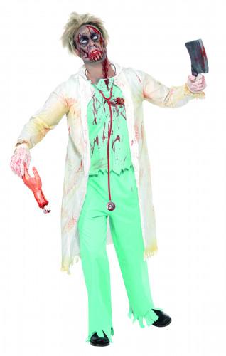 Disfraz de médico zombie para hombre, ideal para Halloween