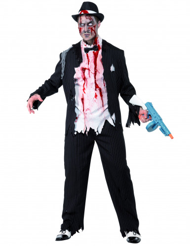 Disfraz de gánster zombie para hombre ideal para Halloween