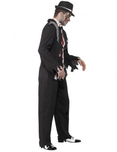 Disfraz de gánster zombie para hombre, ideal para Halloween-1