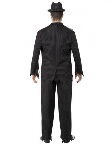 Disfraz de gánster zombie para hombre, ideal para Halloween-2