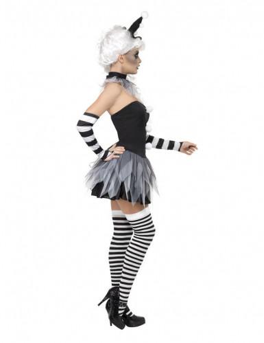 Disfraz sexy de Pierrot para mujer ideal para Halloween-1