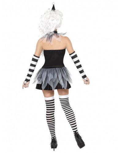 Disfraz sexy de Pierrot para mujer ideal para Halloween-2