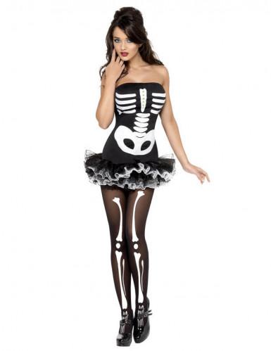 Disfraz sexy de esqueleto para mujer ideal para Halloween-1